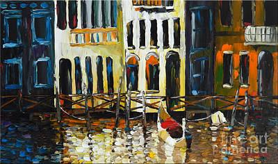 Hanging Mechanism Painting - Gondola by Denisa Laura Doltu