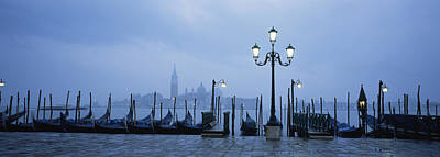 Piazza San Marco Photograph - Gondolas In A Canal, Grand Canal, St by Panoramic Images