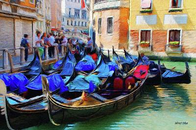 Venice Painting - Gondolas by Jeff Kolker