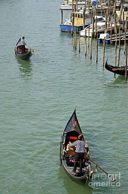 Photograph - Gondolas On Grand Canal by Sami Sarkis