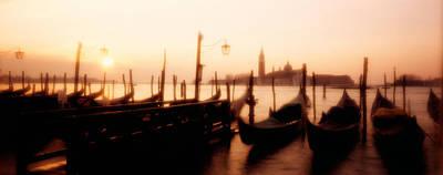 Gondolas San Giorgio Maggiore Venice Print by Panoramic Images