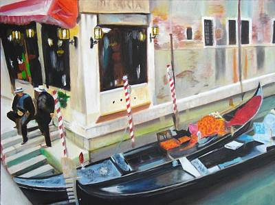 Venice Gondoliers  Original by Yow-Ning Chang