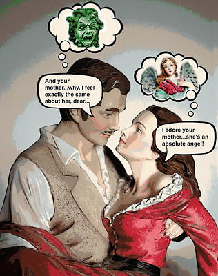 Gorgon Digital Art - Gone With The Wind Humor by Aurelio Zucco