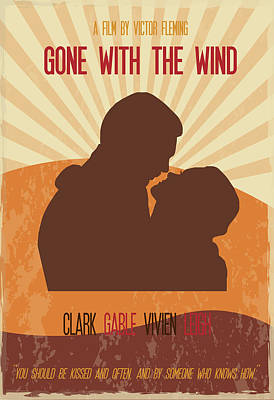 Gone With The Wind Poster Art Print by Florian Rodarte