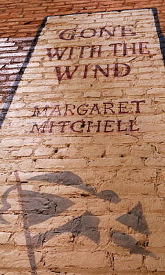 Childrens Book Photograph - Gone With The Wind - Urban Book Store Sign by Steven Milner