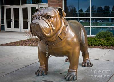Gonzaga Bulldog Print by Inge Johnsson