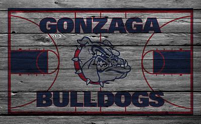 Gonzaga Bulldogs Print by Joe Hamilton