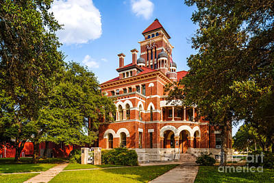 Shiner Photograph - Gonzales County Courthouse In 100f - Summer In Texas by Silvio Ligutti