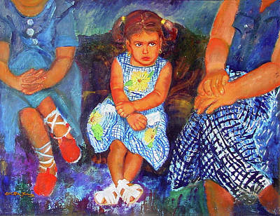 Puerto Rico Painting - Good Girl Or Bored by Estela Robles Galiano