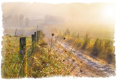 Good Morning Farm Print by Debra and Dave Vanderlaan