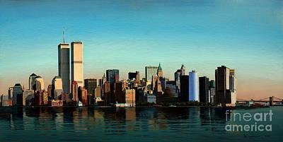 Twin Towers Nyc Painting - Good Morning New York by Damir Selmanovic