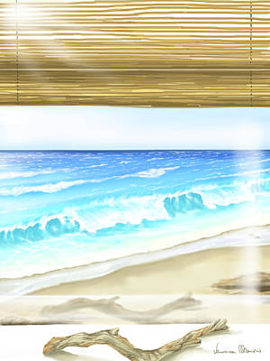 Seascape Digital Painting - Good Morning by Veronica Minozzi