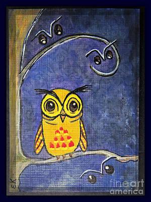 Animation Painting - Good Night Already - Little Hoot Owl by Ella Kaye Dickey
