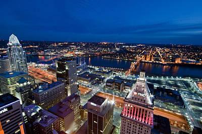 Roebling Bridge Photograph - Good Night Cincinnati by Russell Todd