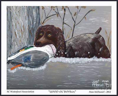 Boykin Spaniel Painting - Good Ol' Boykin by Stan McDaniel