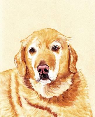 Dog Painting - Good Old Friend by Anastasiya Malakhova