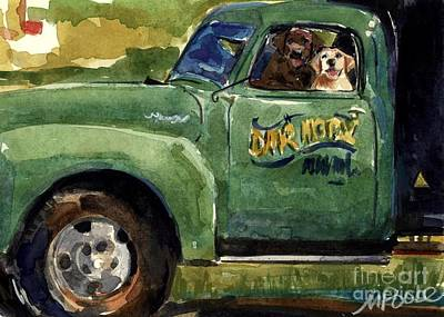 Yellow Dog Painting - Good Ole Boys by Molly Poole