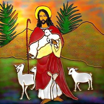 Good Shepherd Original by Latha Gokuldas Panicker