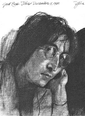 Beatles Drawing - Goodbye John by David Lloyd Glover