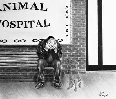 Old Friends Drawing - Goodbye My Friend by Tim Trojan
