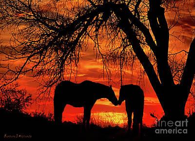 Goodnight Kiss Print by Barbara D Richards