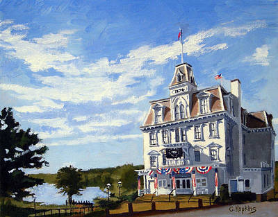 New England Lighthouse Painting - Goodspeed Opera House East Haddam Connecticut by Christine Hopkins