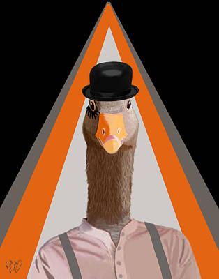 Goose Clockwork Orange Print by Kelly McLaughlan