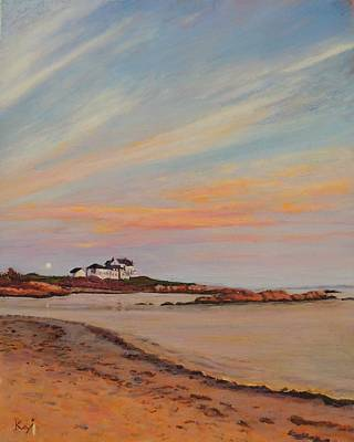 Gooseberry Beach Newport Rhode Island Print by Patty Kay Hall