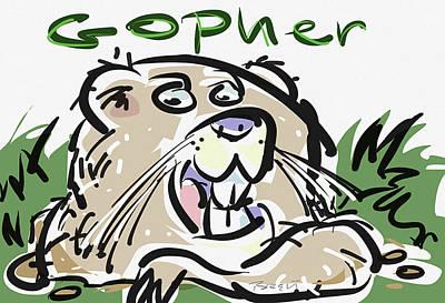 Gopher Print by Brett LaGue
