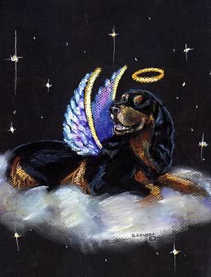 Gordon Setter Painting - Gordon Setter Angel by Darlene Grubbs