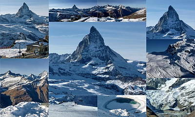 Turquoise Photograph - Gorgeous Matterhorn  by Julia Fine Art And Photography
