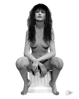 Young Girl Nude Drawing - Gorgeous Girl  by Quim Abella