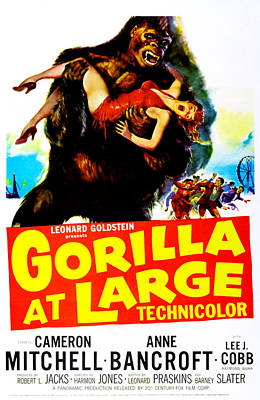 Gorilla At Large, Us Poster, Anne Print by Everett