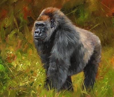 Ape Painting - Gorilla by David Stribbling