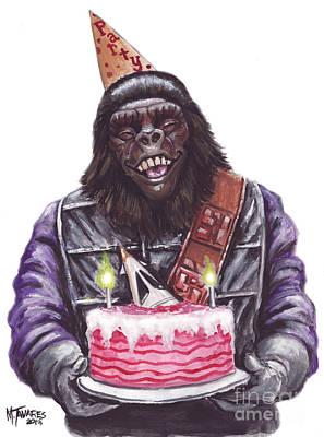 Gorilla Painting - Gorilla Party by Mark Tavares