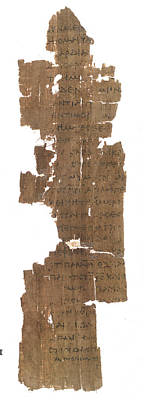 Papyrus Photograph - Gospel Of St John by British Library