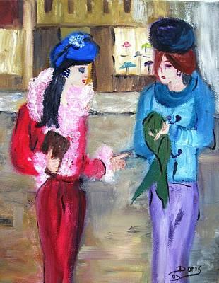 Impression Drawing - Gossip Girls by Doris Cohen