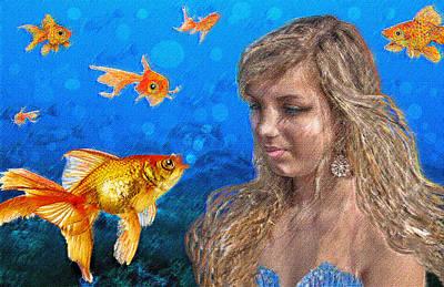 Goldfish Digital Art - Gossip by Jane Schnetlage