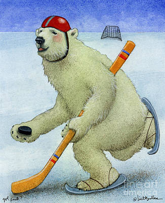 Ice Hockey Painting - Got Puck... by Will Bullas