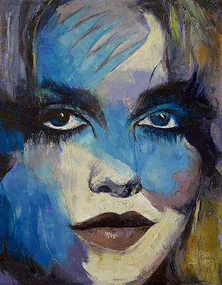Super Hero Painting - Goth Girl by Michael Creese