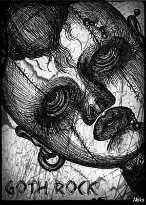 Goth Rock Print by Akiko Kobayashi