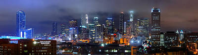 Los Angeles Skyline Photograph - Gotham City - Los Angeles Skyline Downtown At Night by Jon Holiday