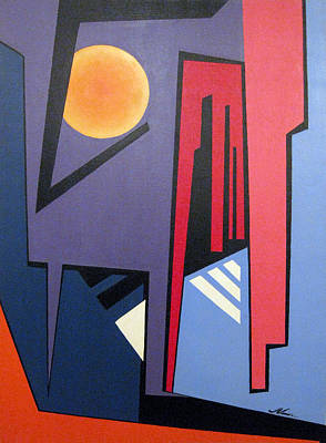 Batman Building Painting - Gotham Knight by JVan