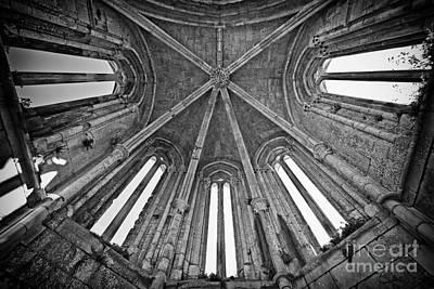 Arch Photograph - Gothic Apse Vault  by Jose Elias - Sofia Pereira