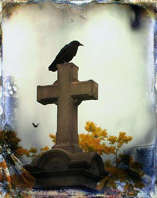 Gothic Corvidae Print by Gothicolors Donna Snyder