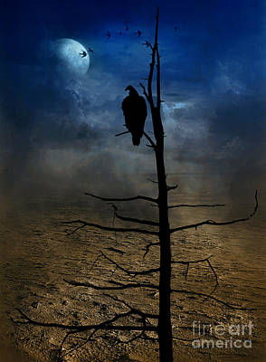 Gothic Landscape  Print by Andrea Kollo