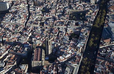 Photograph - Gothic Quarter With Del Pi Church by Jordi Todó