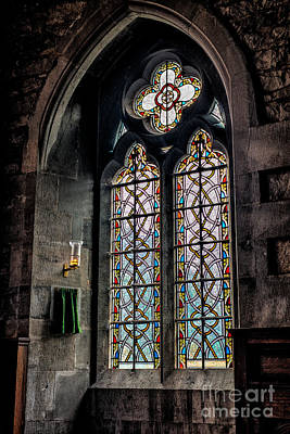 Gothic Window Print by Adrian Evans