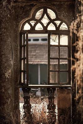 Abandoned Houses Photograph - Gothic Window. Old Portuguese House. Goa. India by Jenny Rainbow