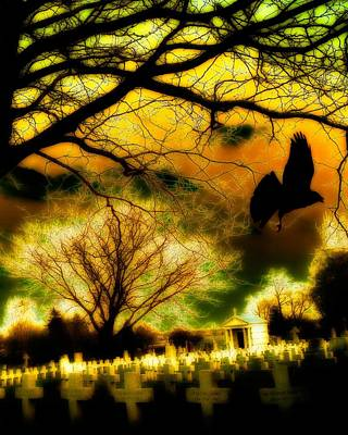 Corvid Digital Art - Gothic World by Gothicolors Donna Snyder